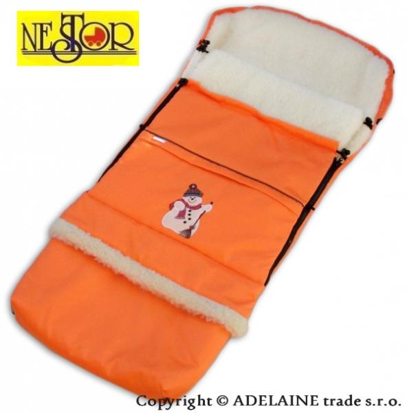 Fusak snehuliakov LUX 90 / 110cm pomarančový - vlna