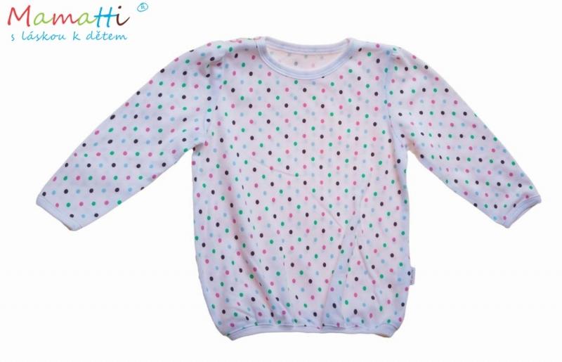 Blúzka / tričko dl.rukáv Slon - ružový, zelený bodka