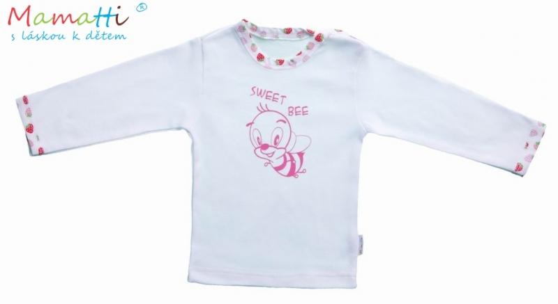 Tričko dl.rukáv Jahôdka - biela