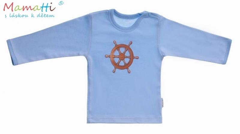 Tričko dl.rukáv Manořník - modrá