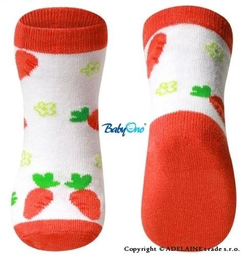 Bavlnené ponožky Baby Ono 12m + - mrkvičky