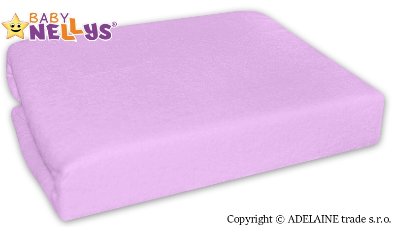 Nepremokavé prestieradlo Baby Nellys ® - Fialové-120x60