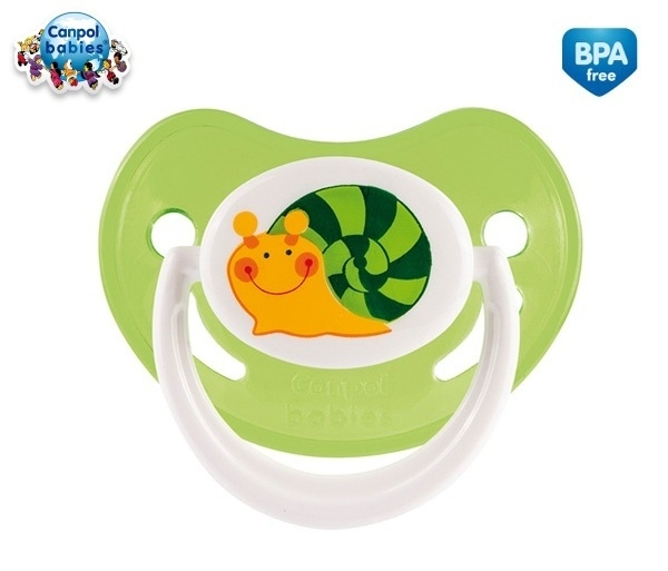 Cumlík Canpol Babies 0-6m - Veselá záhradka - Slimák zelený