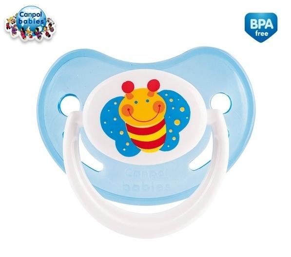 Cumlík Canpol Babies 6-18m - Veselá záhradka - Motýlik modrý