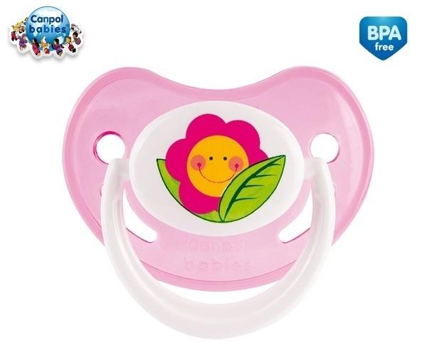 Cumlík Canpol Babies 18m + - Veselá záhradka - Kvetinka ružová