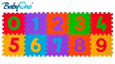 BabyOno Penové puzzle - Čísla - 10ks
