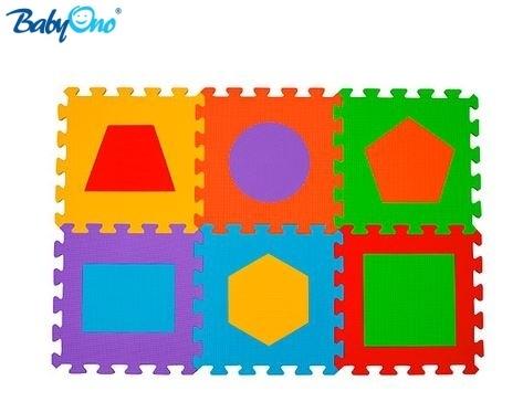 BabyOno Penové puzzle - Tvary - 6 ks