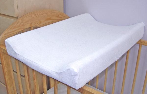 Baby Nellys Froté poťah na prebaľovaciu podložku, 70x50cm  - biely