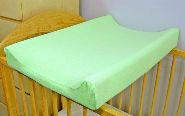 Baby Nellys Froté poťah na prebaľovaciu podložku, 70x50cm  - zelený