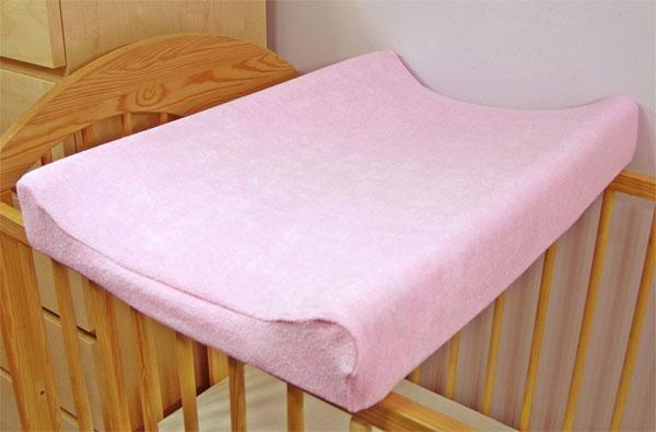 Baby Nellys Froté poťah na prebaľovaciu podložku, 70x50cm  - ružový