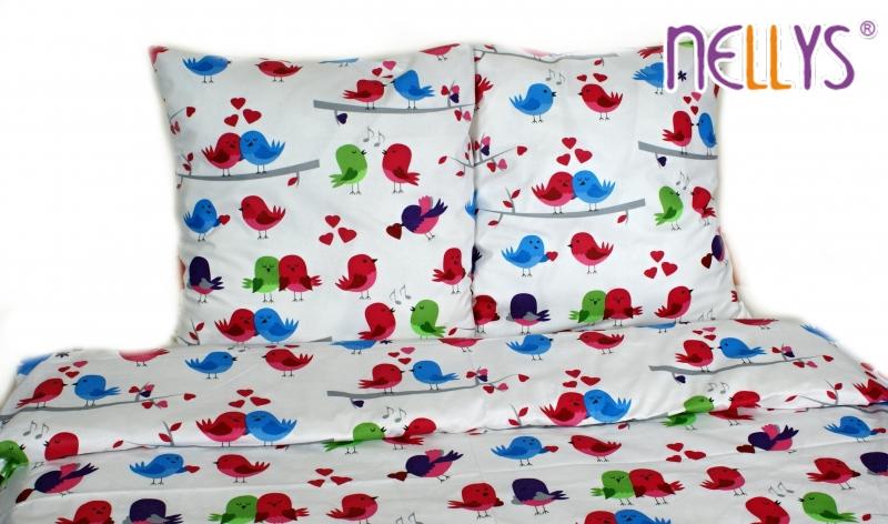 Bavlnené obliečky 140x200 - Zamilovaní vtáčiky
