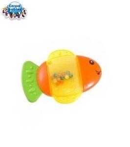 Hryzátko s hrkálkou - Rybka - rôzne farby
