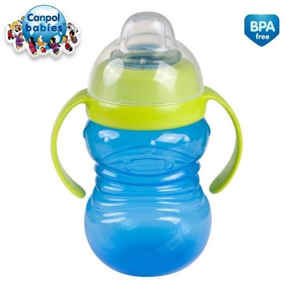 Canpol Babies Športový hrnček s úchytkami - modrý