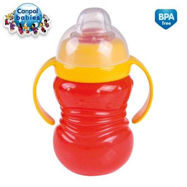 Canpol Babies Športový hrnček s úchytkami - červený
