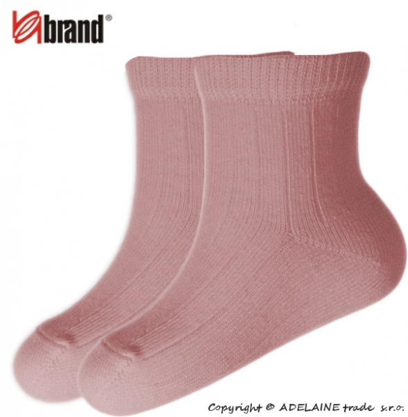 BRAND  Dojčenské ponožky Organic Cotton - SV. RUŽOVÉ
