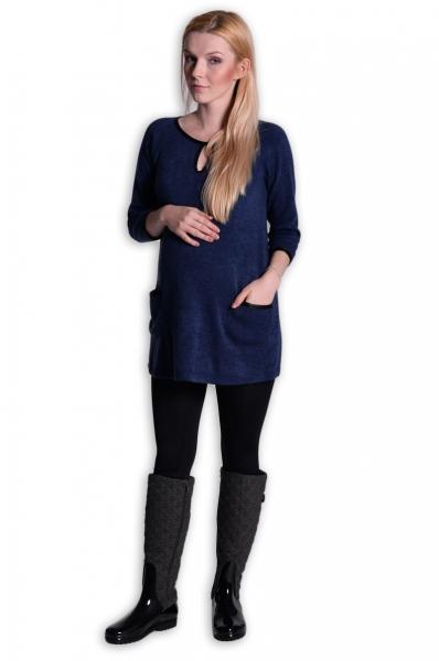 Tehotenská tunika, šaty 3/4 rukáv  - inkoust