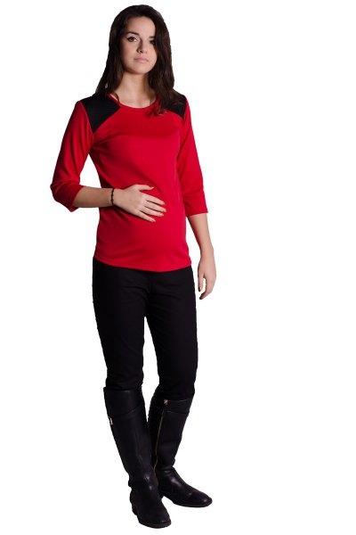 Tričko, tunika, blúzka 3/4 rukáv Pikk - červené, L/XL