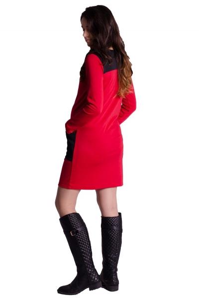 Tehotenské šaty/tunika - červené