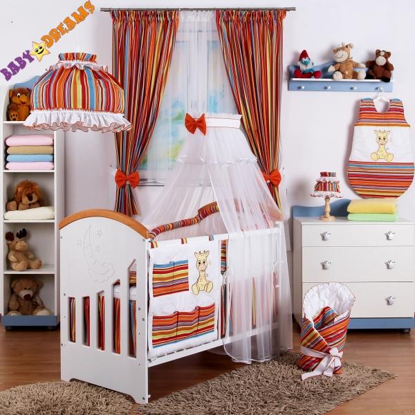 10-dielny set Baby Dreams SAFARI - ŽIRAFA - prúžok pomaranč