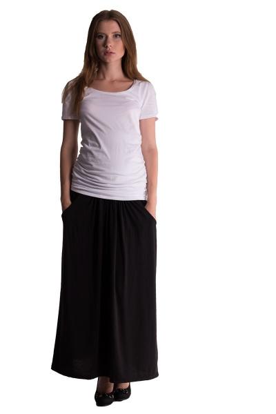 Be MaaMaa Maxi dlhá sukňa MAXINE - čierna