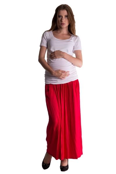 Be MaaMaa Maxi dlhá sukňa MAXINE - červená