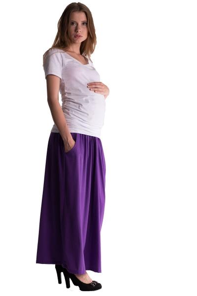 Maxi dlhá sukňa MAXINE - fialová
