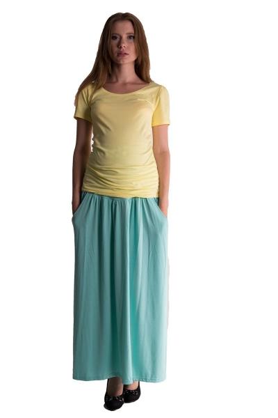 Maxi dlhá sukňa MAXINE - mätová
