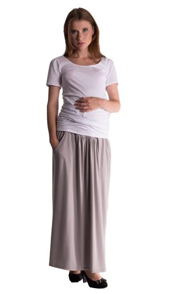 Be MaaMaa Maxi dlhá sukňa Maxine - sv. šedá