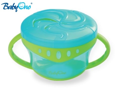 Miska na desiatu Baby Ono - modrá / zelená