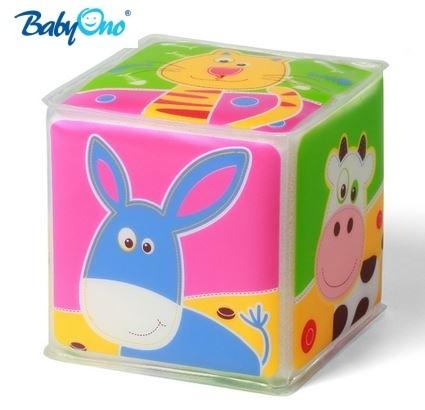 Edukačná kocka Baby Ono 1 ks - Zvieratká MIX