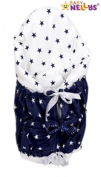 Zavinovačka, perinka de lux - Granátové Hviezdičky v bielej / bielej Hviezdičky v granátov