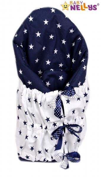 Zavinovačka, perinka de lux - Biele Hviezdičky v granátovej / granátové Hviezdičky v biele
