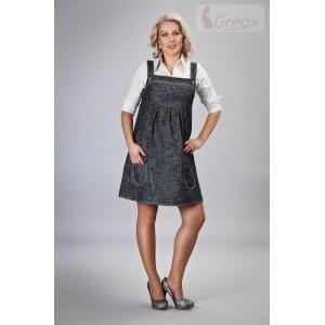 Gregx Elegantné šaty - čierny melírek-#Velikosti těh. moda;M/L