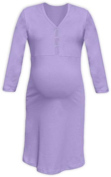 JOŽÁNEK Tehotenská, dojčiace nočná košeľa PAVLA 3/4 - fialová, veľ. L/XL