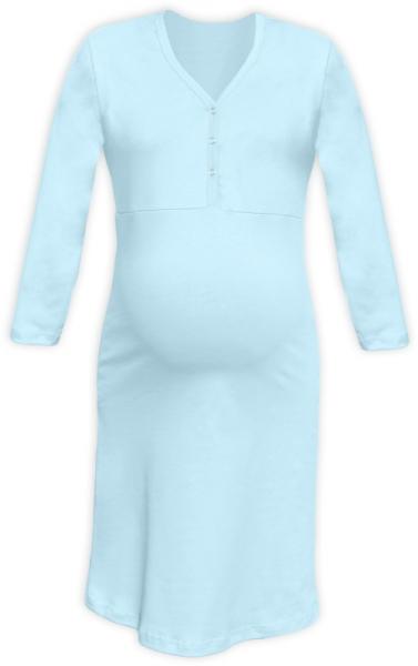 Tehotenská dojčiaca nočná košeľa PAVLA 3/4 - sv. modrá