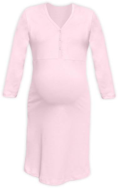 Tehotenská dojčiaca nočná košeľa PAVLA 3/4 - sv. ružová
