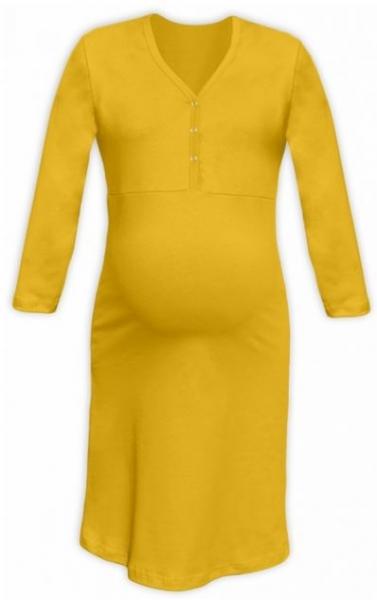 JOŽÁNEK Tehotenská, dojčiace nočná košeľa PAVLA 3/4 - žltá, veľ. L/XL