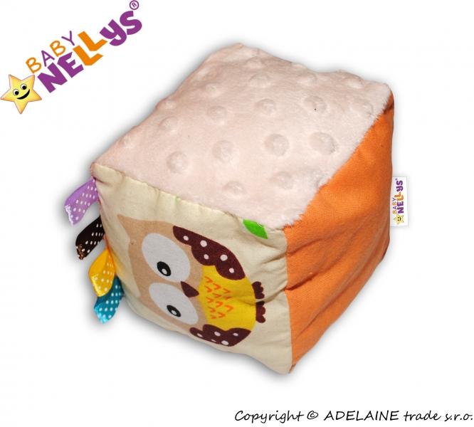 Látková edukačná kocka Baby Nellys® - mix farieb