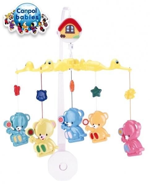 Kolotoč nad postieľku Canpol Babies - Medvedíci s lízátkama
