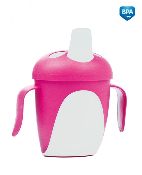 Hrnček Canpol Babies tučnák - ružový