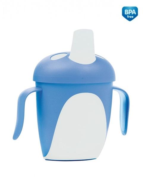 Hrnček Canpol Babies tučnák - modrý
