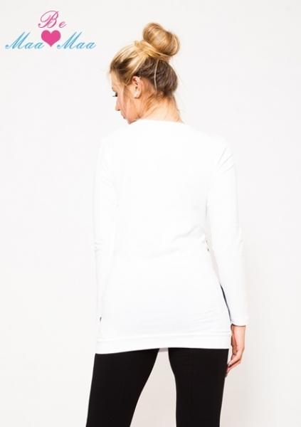Tehotenská tunika UMA - biela / čierna