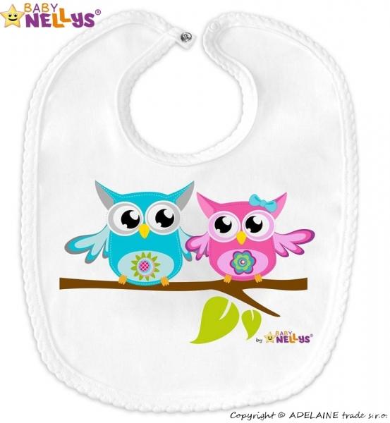 Podbradník bavlna sovička Baby Nellys®