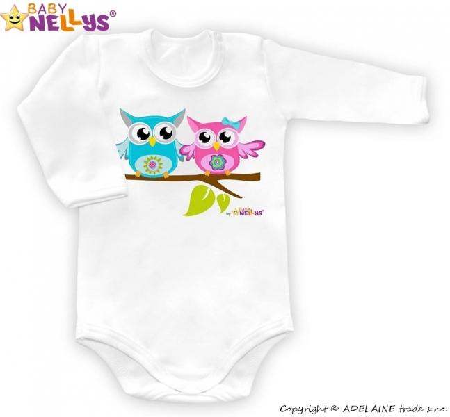 Body dl. rukáv Malá sova Baby Nellys ® - biele