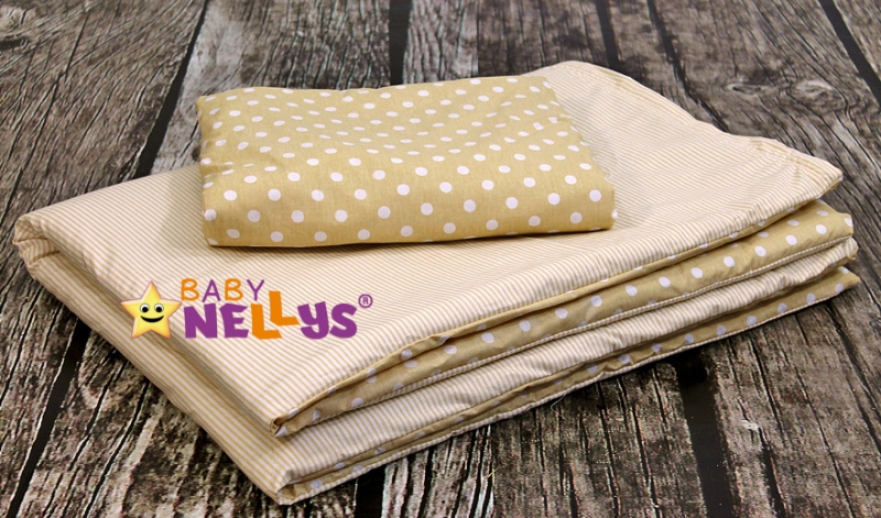 Baby Nellys Mantinel Be Love Lux vankúšikový s obliečkami vzor č. 1