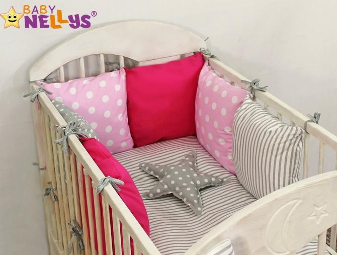 Baby Nellys Mantinel Be Love Lux vankúšikový s obliečkami vzor č. 2