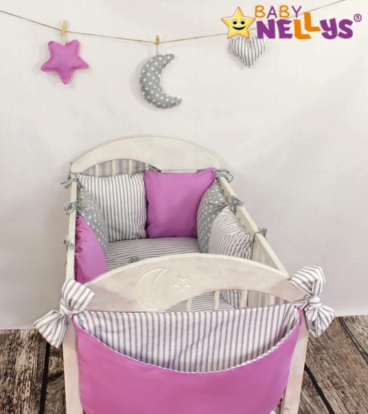 Baby Nellys Mantinel Be Love Lux vankúšikový s obliečkami vzor č. 4