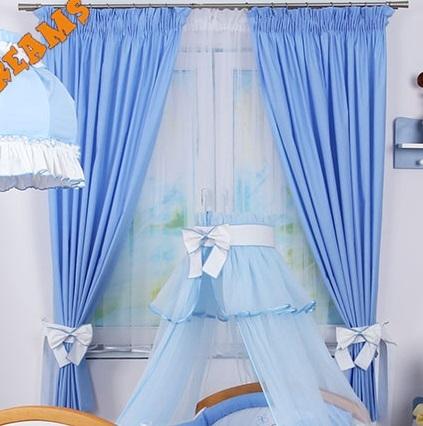 Závesy Míša Nellys darček, modrý