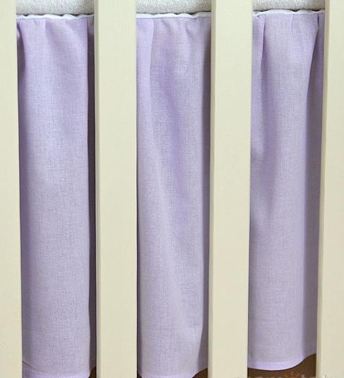 Krásny volánik pod matrac - Srdiečko lila, 120x60