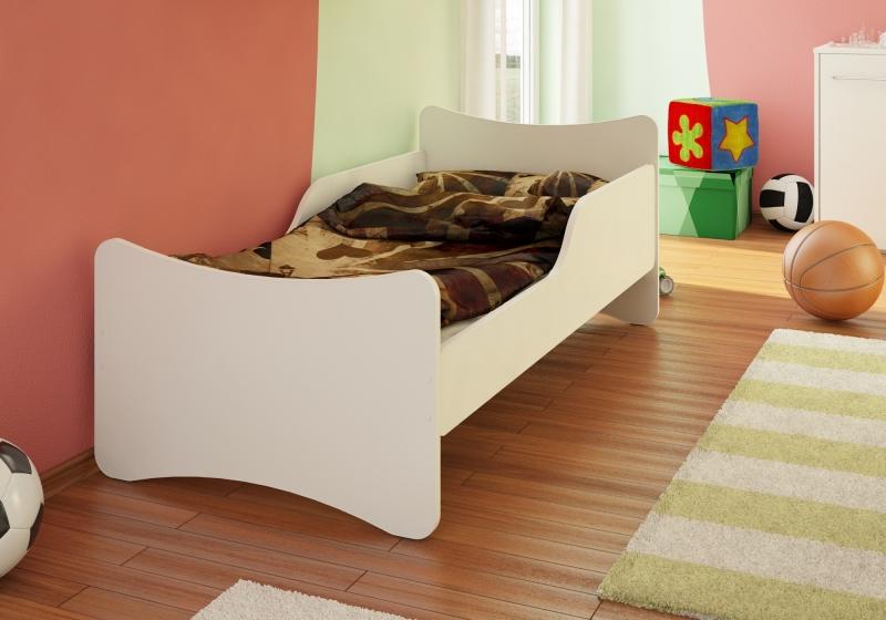 NELLYS Detská posteľ so zábranou -biela, 200x90 cm